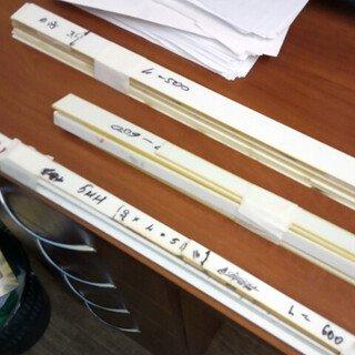Комплект накладок  3мм , L= 320, 500 и 600мм, без клея